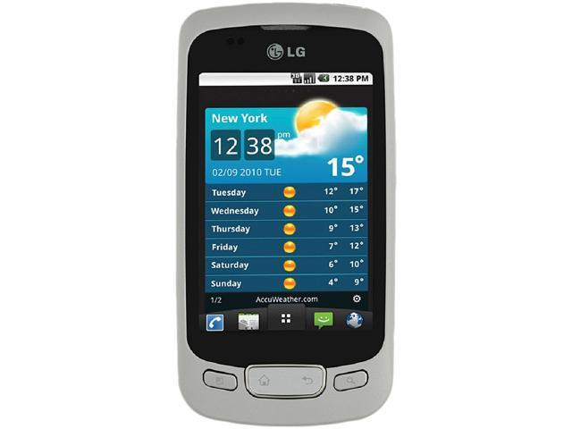 LG Optimus One P500H White 3G Unlocked GSM Cell Phone