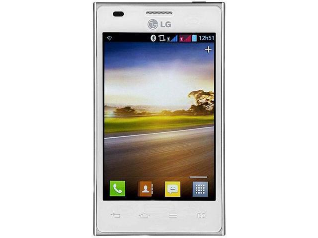 LG Optimus L5 Dual E615F White 3G Unlocked GSM Dual Cell Phone