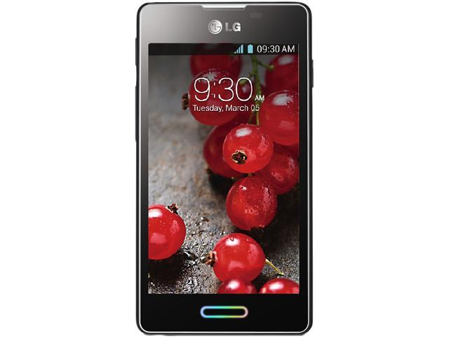 """LG Optimus L5 II E460 4 GB (1.4 GB user available), 512 MB RAM Unlocked GSM Android Cell Phone 4.0"""" Black"""