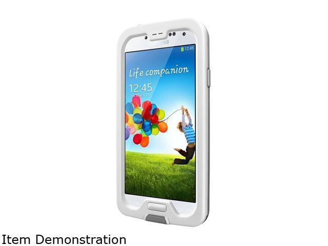 Samsung Galaxy S4 I337 White 16GB GSM Phone + LifeProof Nuud Cyan/Glacier
