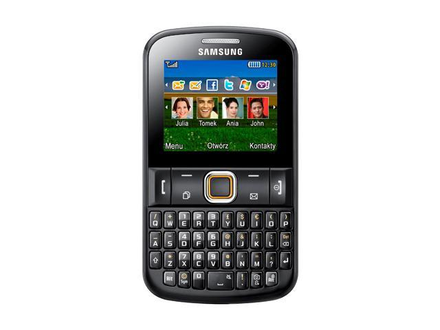 "Samsung Ch@t 222 E2222 43 MB Unlocked GSM Dual SIM Cell Phone 2.2"" Gray"