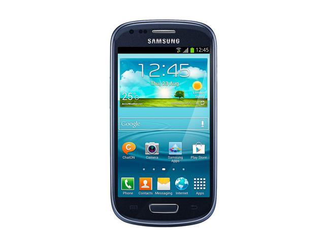 Samsung Galaxy S3 mini GT-i8190L/GT-i8190 Metallic Blue / Pebble Blue 3G 8GB Unlocked Cell Phone