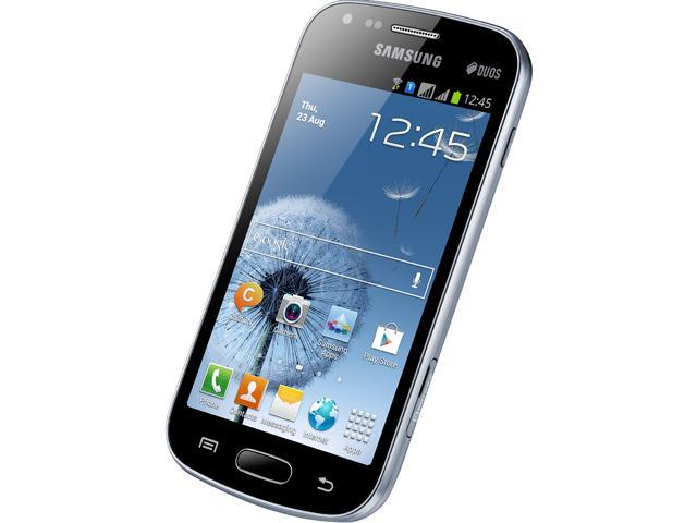 "Samsung Galaxy S Duos S7562 4 GB (1.8 GB user available) 3G Unlocked Dual SIM Cell Phone 4.0"" 768MB RAM Black"