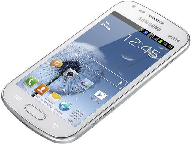 "Samsung Galaxy S Duos S7562 4 GB (1.8 GB user available) 3G Unlocked Dual SIM Cell Phone 4.0"" 768MB RAM White"