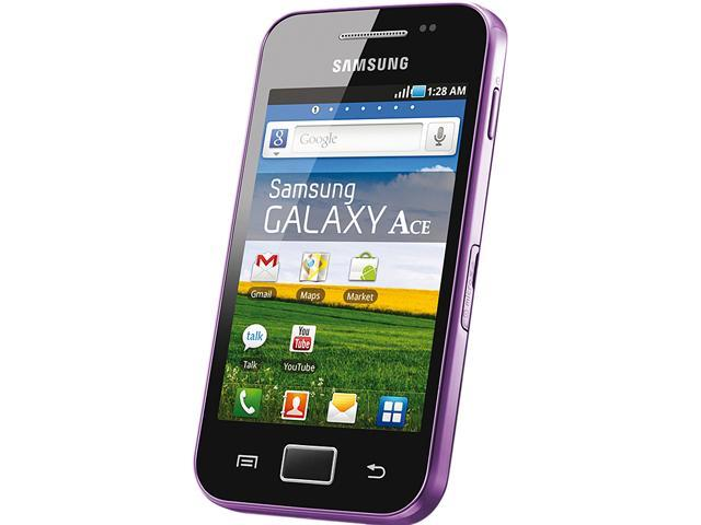 "Samsung Galaxy Ace GT-S5830 158 MB Unlocked Cell Phone 3.5"" Purple"