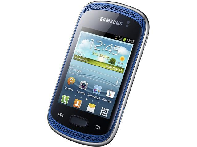 Samsung Galaxy Music Duos S6012 Blue Unlocked Dual SIM Cell Phone