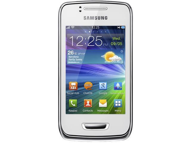 "Samsung Wave Y S5380 150 MB storage Unlocked Cell Phone 3.2"" White"