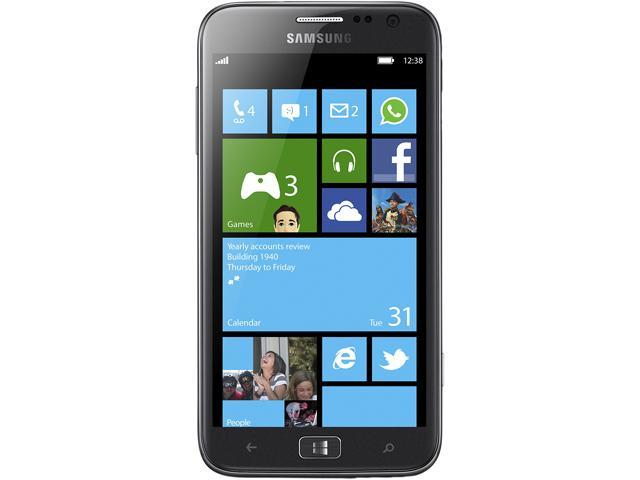 "Samsung Ativ S I8750 16GB storage, 1 GB RAM 16GB Unlocked Cell Phone 4.8"" Gray"
