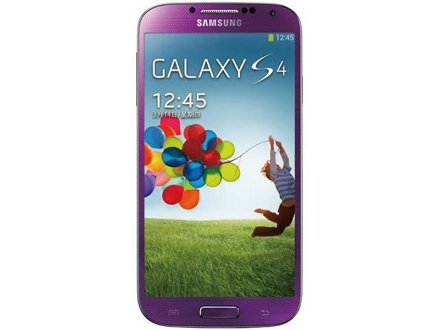 "Samsung Galaxy S4 I9500 16GB 3G Unlocked Cell Phone 5"" 2GB RAM Purple"