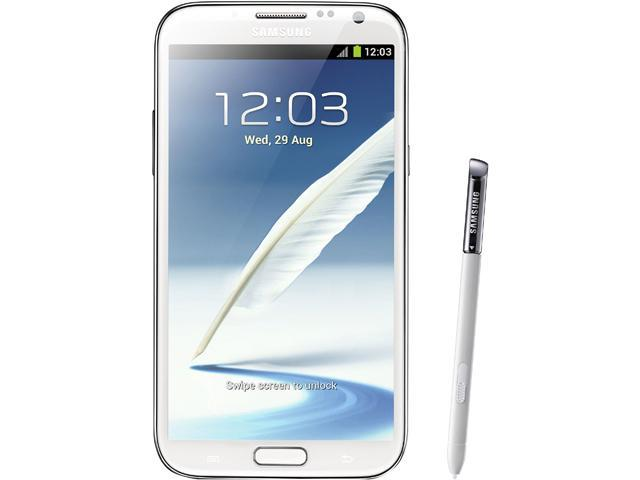 """Samsung Galaxy Note II 16GB N7100 16 GB storage, 2 GB RAM Unlocked GSM Android Cell Phone 5.5"""" White"""