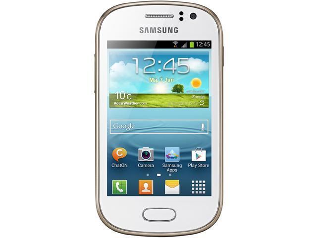 Samsung Galaxy Fame S6812 White Unlocked GSM Dual-SIM Android Cell Phone