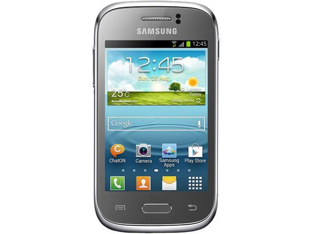 """Samsung Galaxy Young S6310 4 GB, 768 MB RAM Unlocked GSM Android Cell Phone 3.27"""" Silver"""
