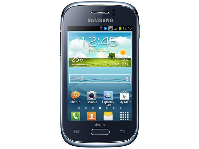 Samsung Galaxy Young S6310 Blue Unlocked GSM Android Cell Phone