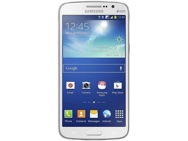 "Samsung Galaxy Grand 2 Duos G7102 8GB 3G Unlocked GSM Dual-SIM Cell Phone 5.25"" 1.5GB RAM White"