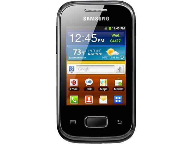 "Samsung Galaxy Pocket Plus S5301 4 GB, 512 MB RAM Unlocked GSM Android Cell Phone 2.8"" Black"