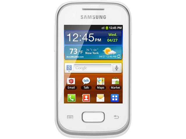 "Samsung Galaxy Pocket Plus S5301 4 GB, 512 MB RAM Unlocked GSM Android Cell Phone 2.8"" White"
