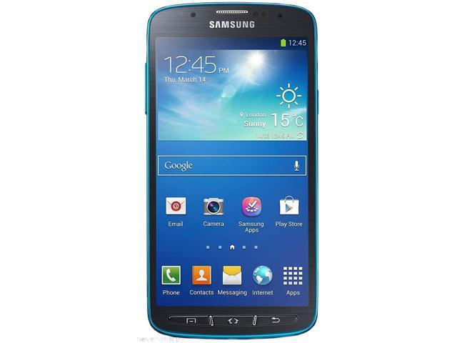 """Samsung Galaxy S4 Active I537 16 GB (11.2 GB user available), 2 GB RAM AT&T Unlocked GSM Android Cell Phone 5"""" Blue"""