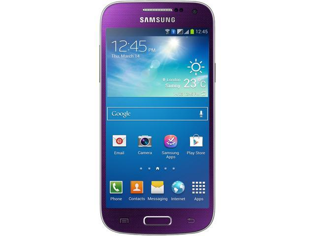 "Samsung Galaxy S4 mini DUOS i9192 8 GB (5 GB user available), 1.5 GB RAM Unlocked GSM Android Dual-SIM Phone 4.3"" Purple"