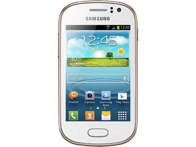 """Samsung Galaxy Fame S6810 4 GB, 512 MB RAM Unlocked GSM Android Cell Phone 3.5"""" White"""