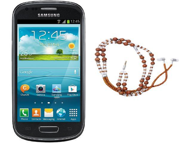 Samsung Galaxy S3 Mini I8200 Black Unlocked Cell Phone + HandCandy - The SAMSARA Bundle