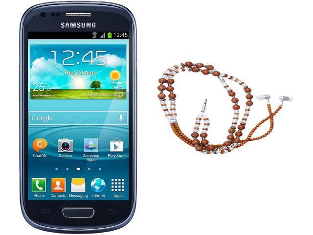 "Samsung Galaxy S3 Mini I8200 Unlocked Cell Phone + HandCandy - The SAMSARA Bundle 4.0"" Blue"