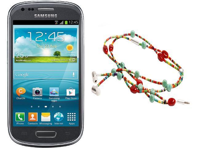 """Samsung Galaxy S3 Mini I8200 Unlocked Cell Phone + HandCandy - The SAMBA Bundle 4.0"""" Gray"""
