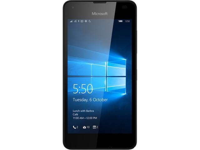 "Microsoft Lumia 550 8GB 4G LTE Black Unlocked Cell Phone 4.7"" 1GB RAM"