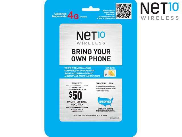 Net10 Sim Card Prepaid Card