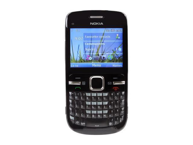 "Nokia C3-00 55 MB Unlocked GSM Smart Phone w/ Full QWERTY Keyboard / Wi-Fi 2.4"" Black"
