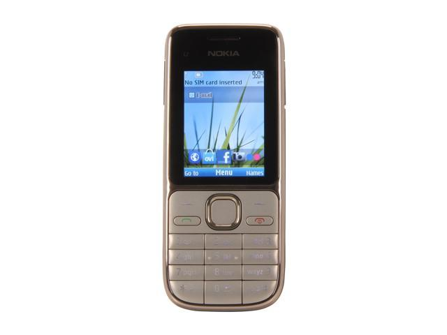 Nokia C2-01 Silver 3G Unlocked GSM Bar Phone with 3.2MP Camera