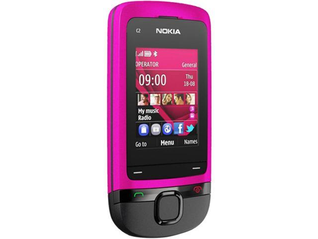 Nokia C2-05 Pink Unlocked GSM Slider Phone w/ Bluetooth / VGA Camera / 2