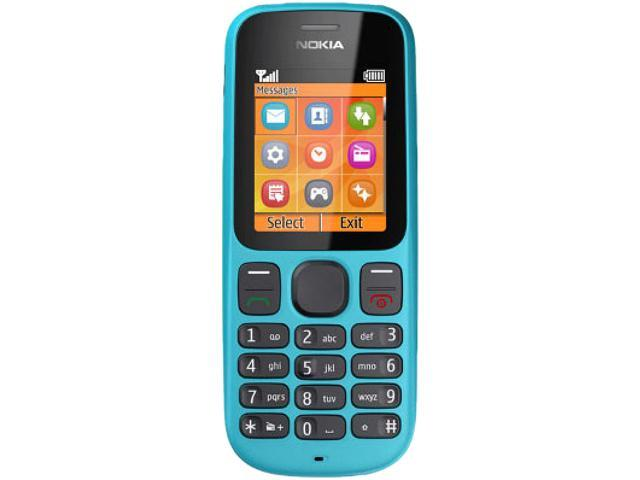 Nokia 100 Blue Unlocked GSM Dual-Band Cell Phone