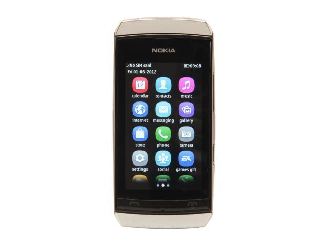 Nokia Asha 306 White Unlocked GSM Touch Screen Smart Phone with Wi-Fi / Bluetooth / 2 MP Camera / 3.0