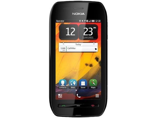 """Nokia 603 2 GB (340 MB user available), 1 GB ROM 3G Unlocked Cell Phone 3.5"""" 512MB RAM Black"""