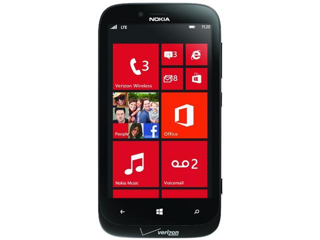 Nokia Lumia 822 VRZN Black 3G LTE Dual-Core 1.5GHz Verizon CDMA Windows 8 OS Cell Phone