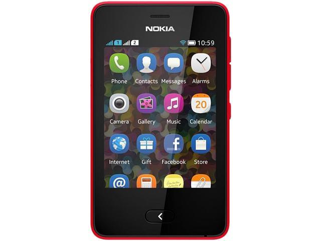 "Nokia Asha 501 128 MB, 64 MB RAM Unlocked GSM Touchscreen Cell Phone 3.0"" Red"