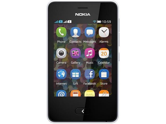 Nokia Asha 501 White Unlocked GSM Touchscreen Cell Phone
