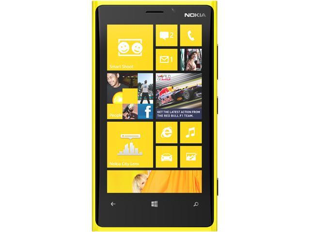 "Nokia Lumia 920 32GB 4G LTE Yellow 32GB Unlocked GSM Windows 8 OS Cell Phone 4.5"" 1GB RAM (North American Unlocked US LTE)"