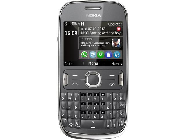 Nokia Asha 302 Dark Grey 3G Unlocked GSM QWERTY Smart Phone with Wi-Fi / Bluetooth / 3.2 MP Camera / 2.4