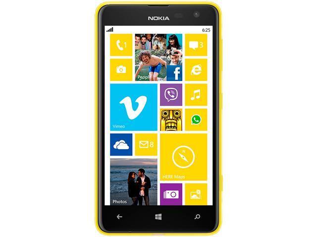 """Nokia Lumia 625.1 8 GB, 512 MB RAM Unlocked Cell Phone 4.7"""" Yellow"""