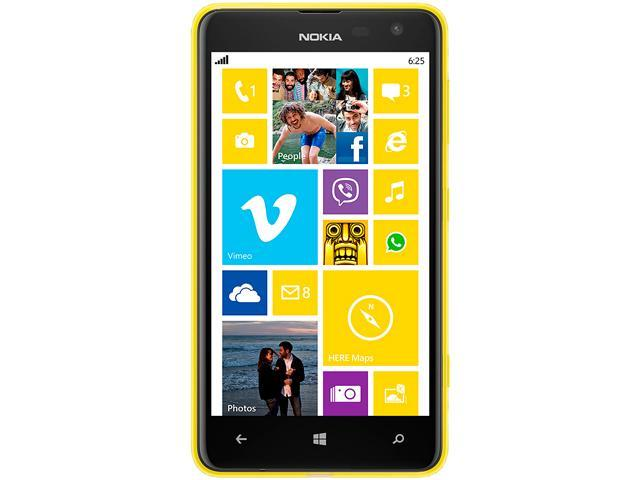 Nokia Lumia 625.1 Yellow 4G LTE Dual-Core 1.2GHz Unlocked Cell Phone