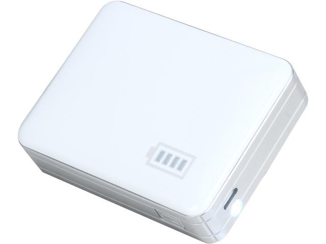 Inland White 5200 mAh Backup Battery Power Bank 03240