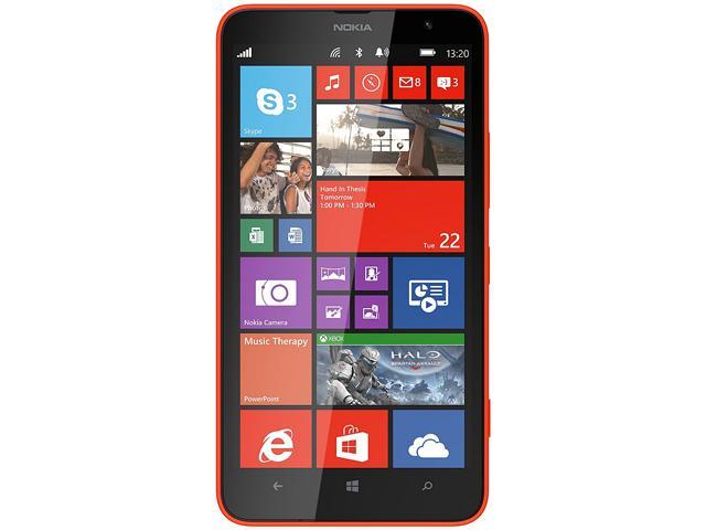 "Nokia Lumia 1320 8 GB, 1 GB RAM Unlocked Cell Phone 6"" Orange"