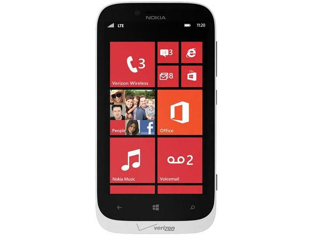 "Nokia Lumia 822 16 GB, 1 GB RAM GSM Unlocked + Verizon CDMA 4G LTE Windows Phone 4.3"" White"