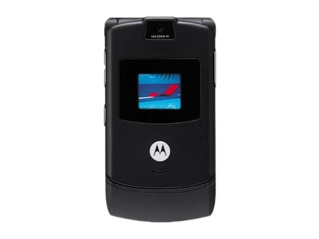 "Motorola RAZR V3 5MB internal memory Unlocked Cell Phone 2.2"" Black"