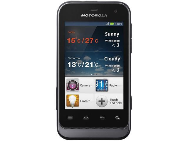 "Motorola Defy Mini XT320 512 MB ROM, 512 MB RAM Unlocked GSM Android Cell Phone 3.2"" Black"