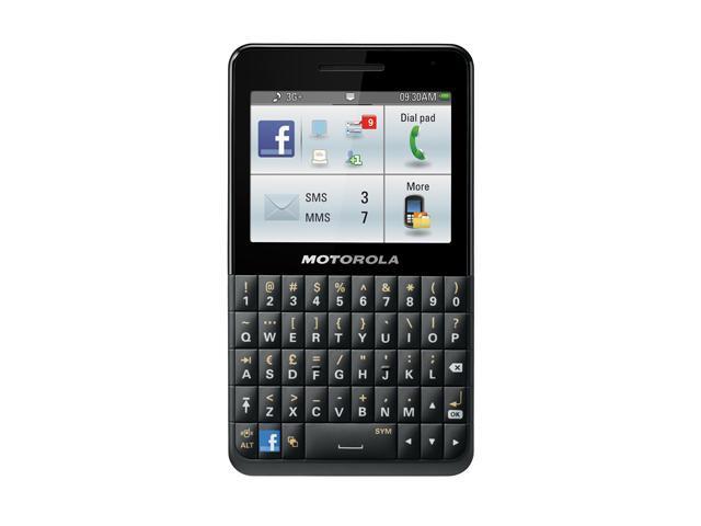 Motorola MOTOKEY Social EX225 Black 3G Unlocked GSM Touchscreen Cell Phone