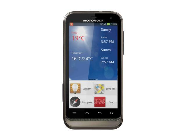 "Motorola DEFY XT535 512 MB RAM, 1 GB ROM Unlocked GSM Android Cell Phone 3.7"" Black"