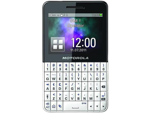 Motorola EX223 White / Black Unlocked GSM Dual SIM Cell Phone