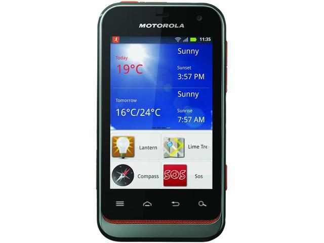 Motorola Defy Mini XT320 Black / Orange Unlocked GSM Android Cell Phone
